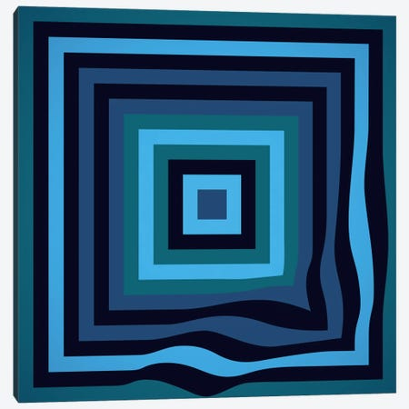 Blue Ripple Canvas Print #GMA62} by Greg Mably Art Print