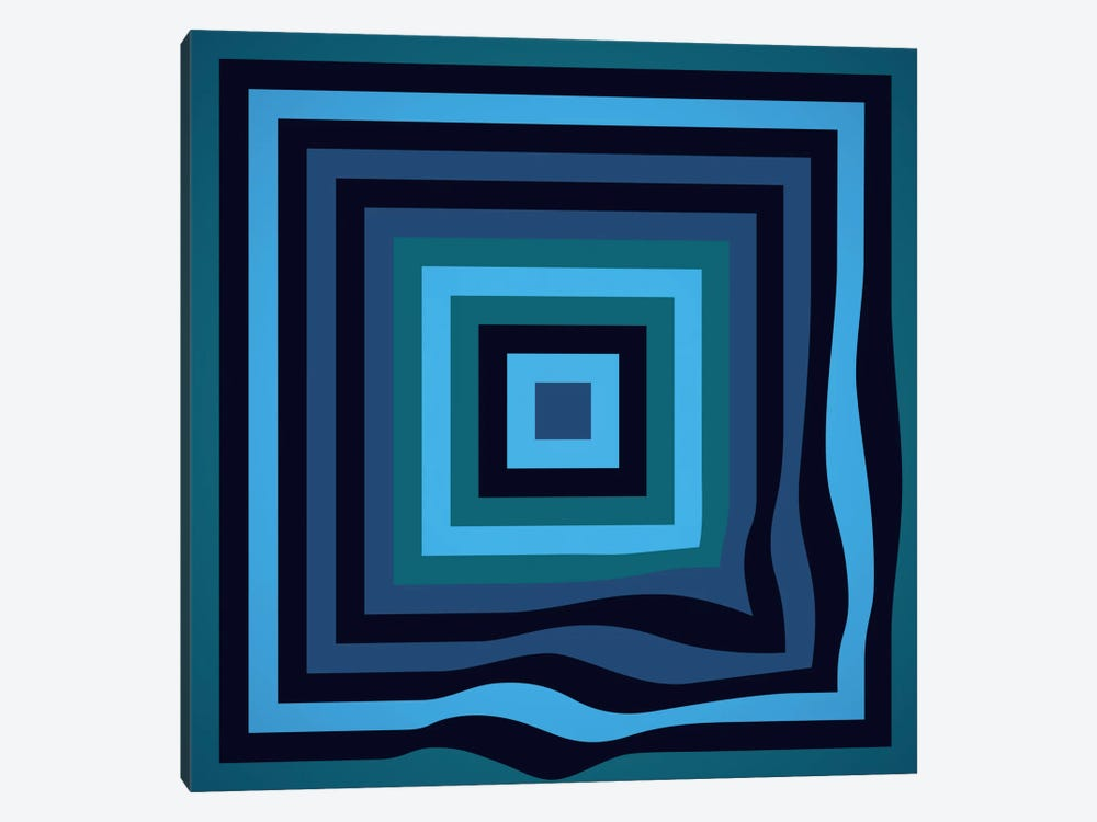 Blue Ripple by Greg Mably 1-piece Canvas Print