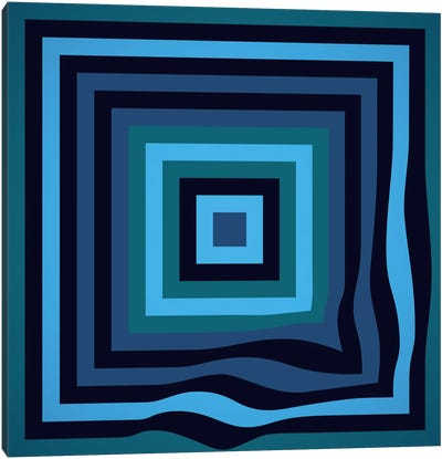 Blue Ripple Canvas Art Print