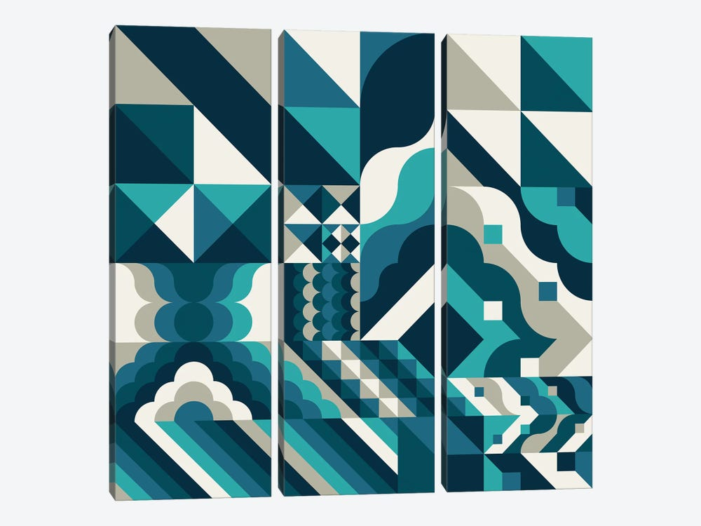 Wave by Greg Mably 3-piece Canvas Print