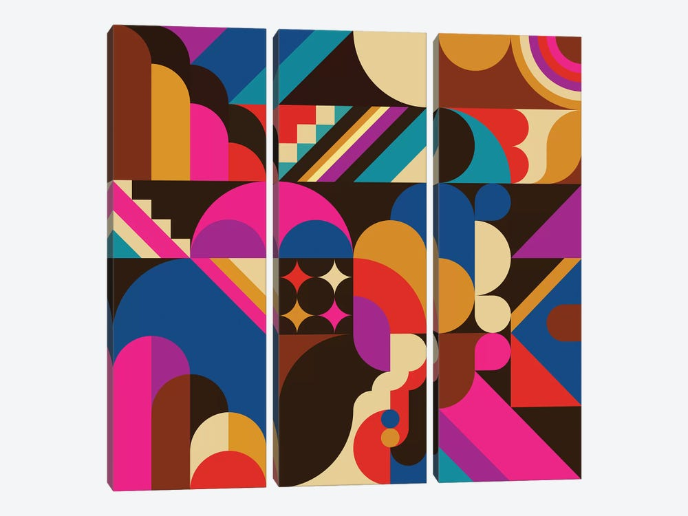1967 by Greg Mably 3-piece Canvas Artwork