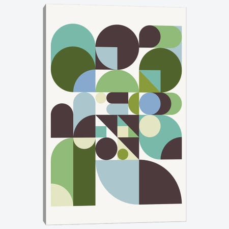 Pebbles 3-Piece Canvas #GMA89} by Greg Mably Canvas Print