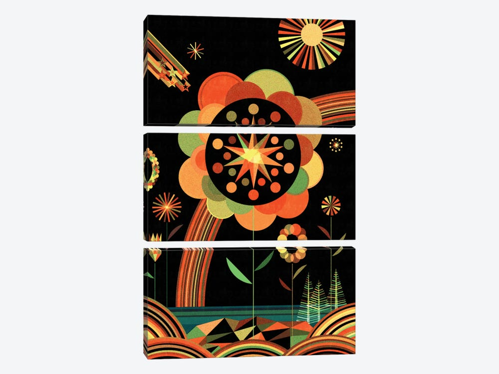 Joyscape by Greg Mably 3-piece Canvas Print