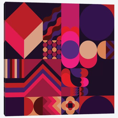 Purple Haze Canvas Print #GMA90} by Greg Mably Canvas Art
