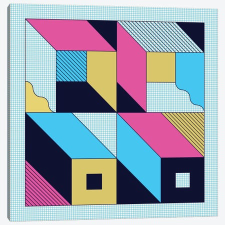 Quadra Canvas Print #GMA91} by Greg Mably Canvas Wall Art