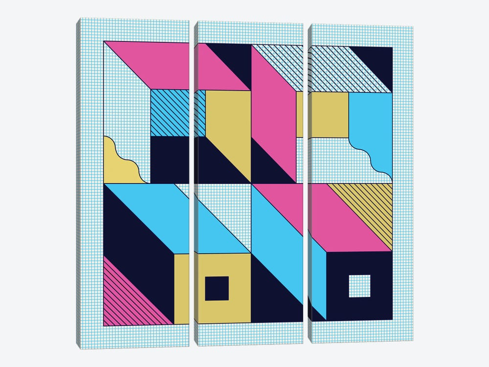 Quadra by Greg Mably 3-piece Canvas Art Print