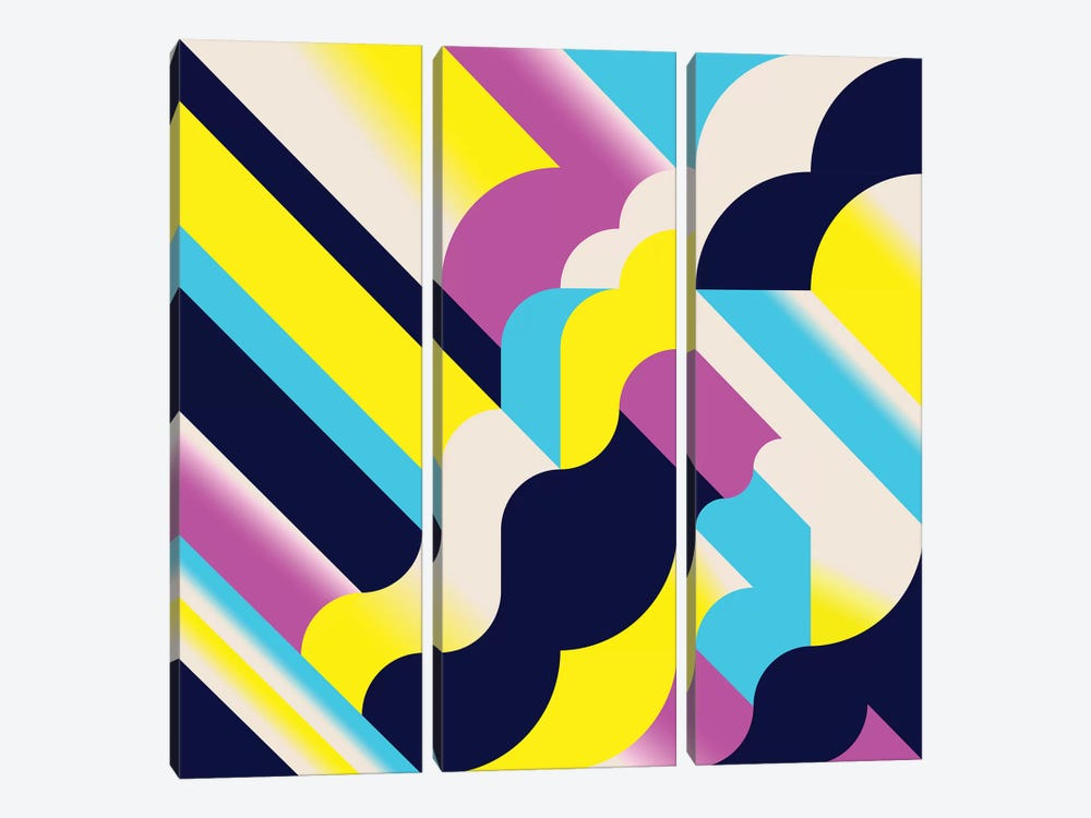 Tokyo by Greg Mably 3-piece Canvas Wall Art