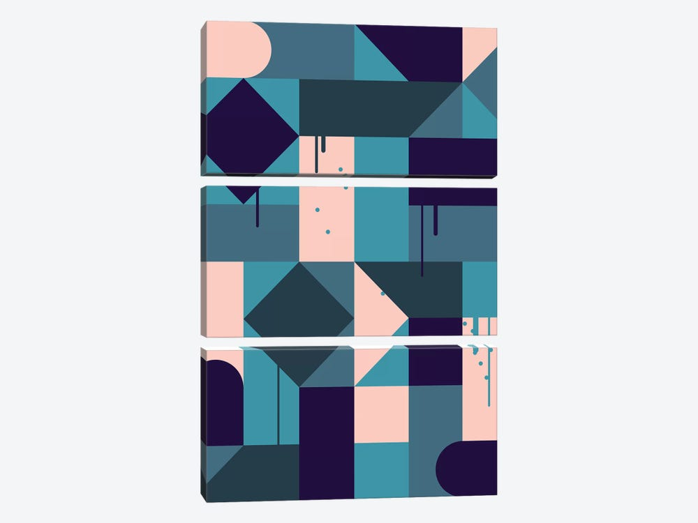 Villa by Greg Mably 3-piece Canvas Print