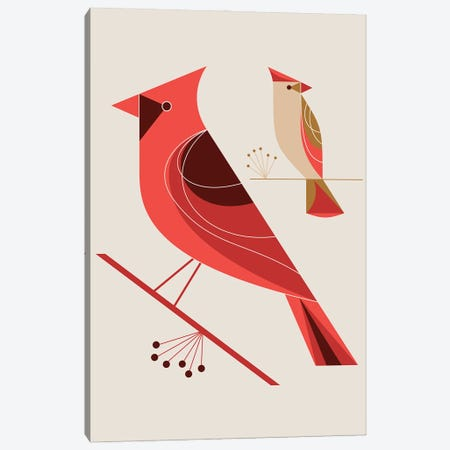 Cardinals Canvas Print #GMA97} by Greg Mably Art Print