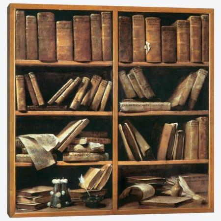 Scaffali Con Libri Di Musica 3-Piece Canvas #GMC1} by Giuseppe Maria Crespi Canvas Art