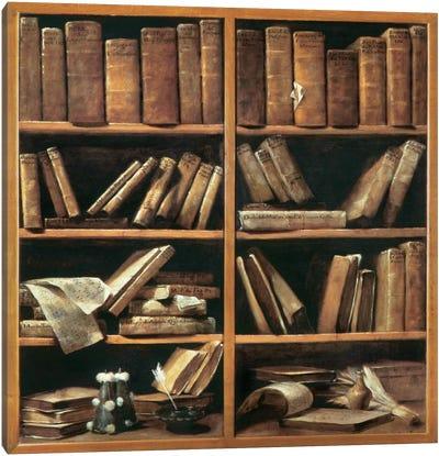 Scaffali Con Libri Di Musica Canvas Art Print