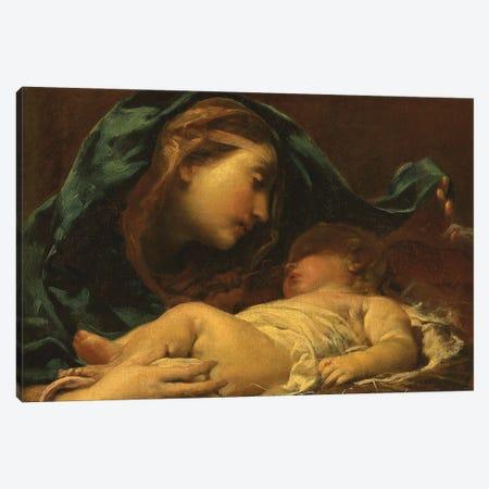 Madonna And Child Canvas Print #GMC2} by Giuseppe Maria Crespi Canvas Wall Art