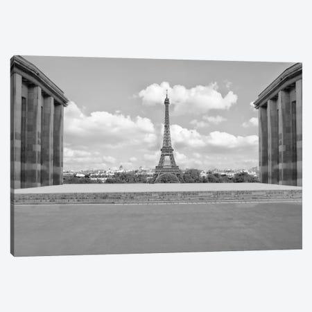 Eiffel From Afar I Canvas Print #GMI28} by Golie Miamee Art Print