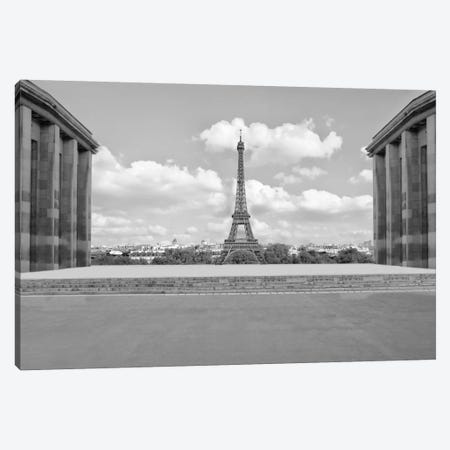 Eiffel From Afar I Canvas Print #GMI28} by Golie Miamee Art Print