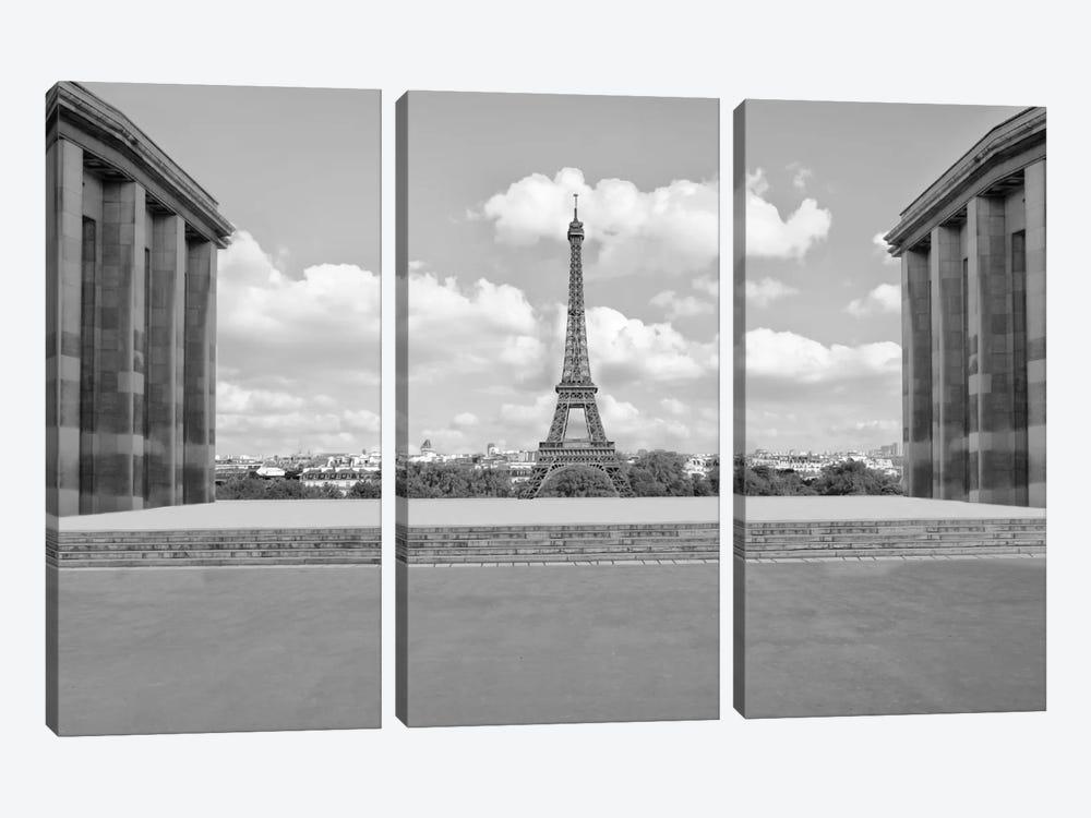 Eiffel From Afar I by Golie Miamee 3-piece Canvas Wall Art