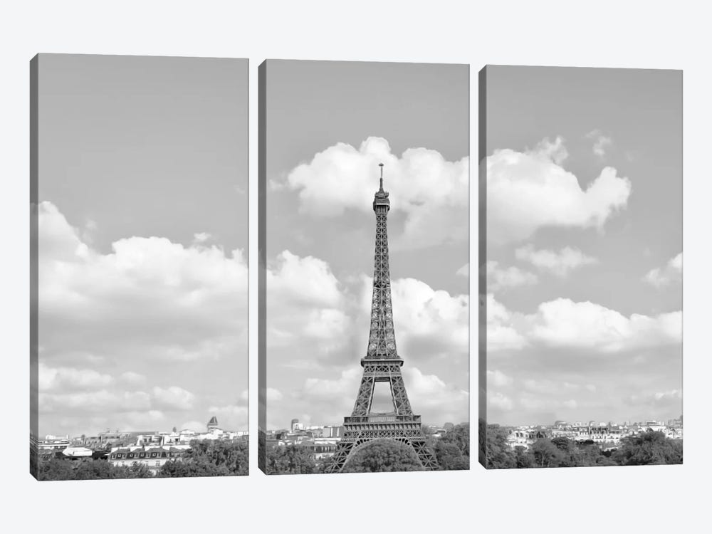 Eiffel From Afar II by Golie Miamee 3-piece Art Print