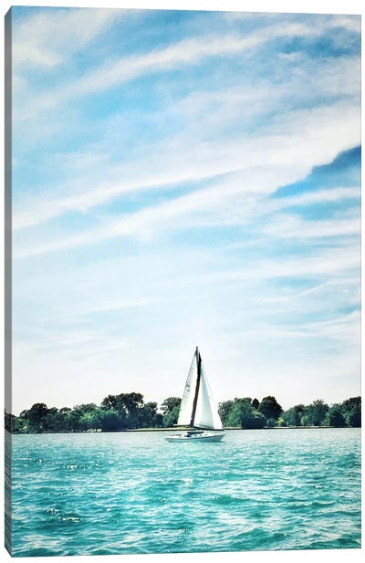Scene Along The Water I Canvas Art Print