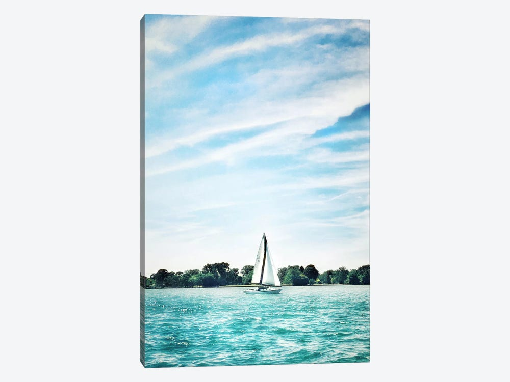 Scene Along The Water I by Golie Miamee 1-piece Canvas Print