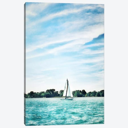 Scene Along The Water I Canvas Print #GMI34} by Golie Miamee Canvas Print