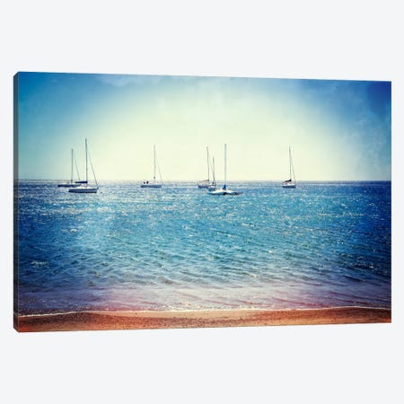 Scene Along The Water II Canvas Print #GMI35} by Golie Miamee Canvas Art Print