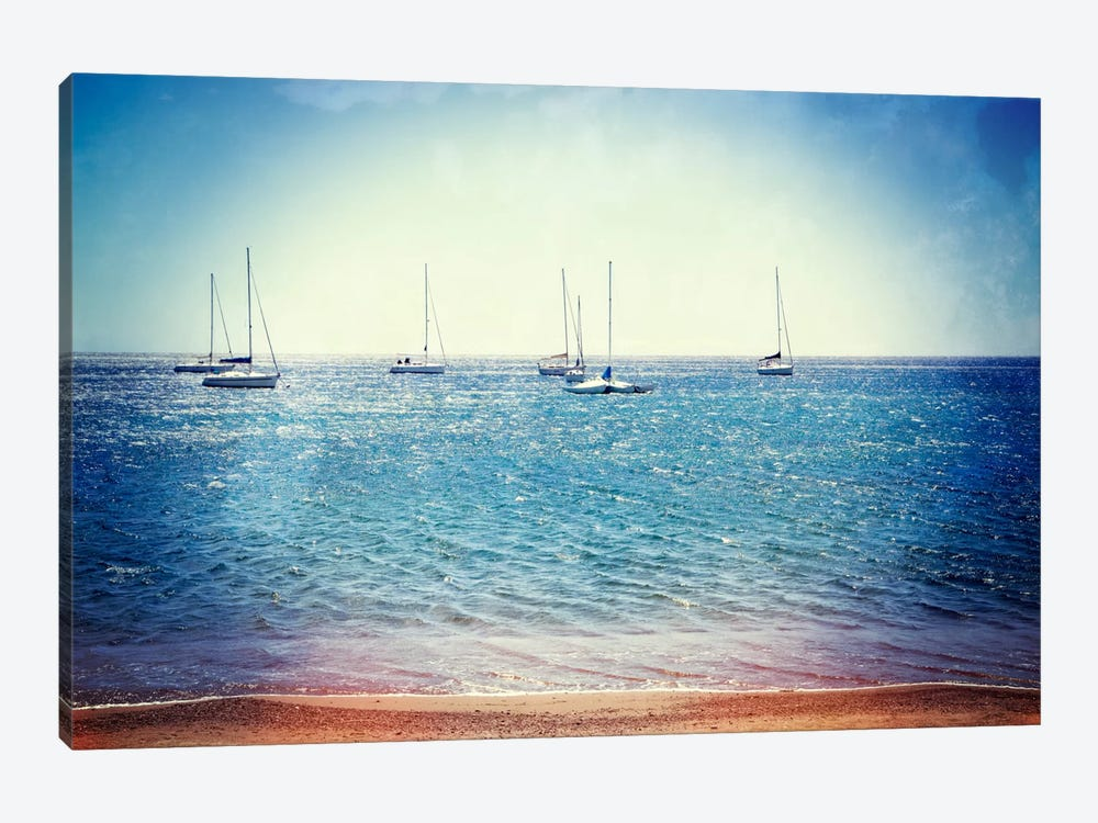 Scene Along The Water II by Golie Miamee 1-piece Canvas Art