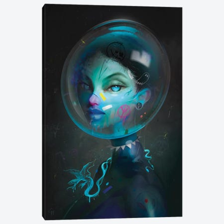 Galaxy Gala Suit Canvas Print #GMT3} by Gianluca Mattia Canvas Artwork