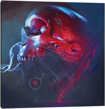 Star Skull Canvas Art Print