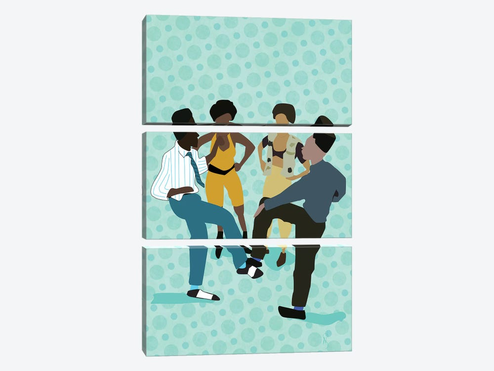 House Party by GNODpop 3-piece Canvas Art Print