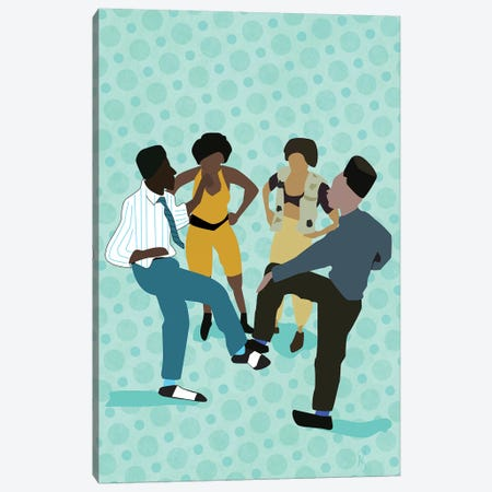 House Party Canvas Print #GND15} by GNODpop Canvas Art