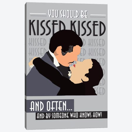 Kissed Often Canvas Print #GND17} by GNODpop Canvas Wall Art