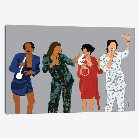 Living Single Canvas Print #GND18} by GNODpop Art Print