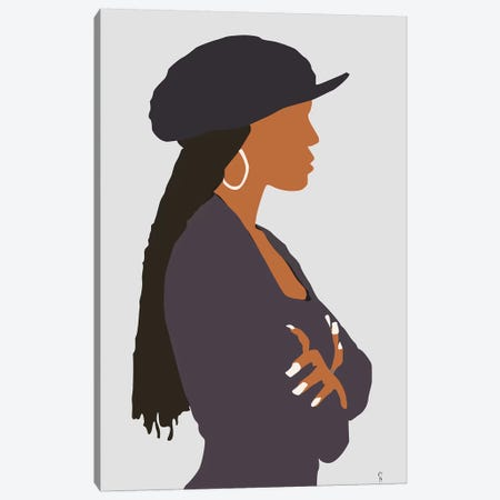 Poetic Justice  Janet Canvas Print #GND22} by GNODpop Canvas Artwork