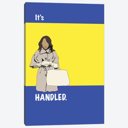 Scandal - It's Handled Canvas Print #GND23} by GNODpop Canvas Art