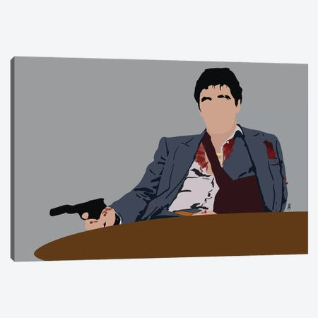 Scarface Canvas Print #GND24} by GNODpop Canvas Print
