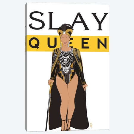 Slay Queen Beyonce Canvas Print #GND25} by GNODpop Canvas Print