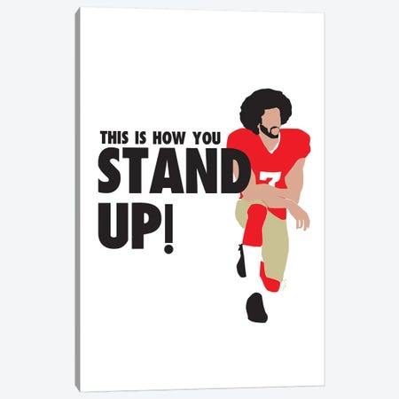 Stand Up - Colin Canvas Print #GND26} by GNODpop Art Print