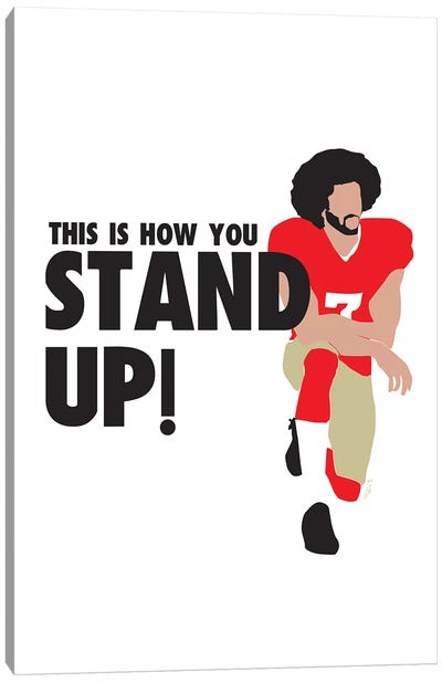 Stand Up - Colin Canvas Art Print