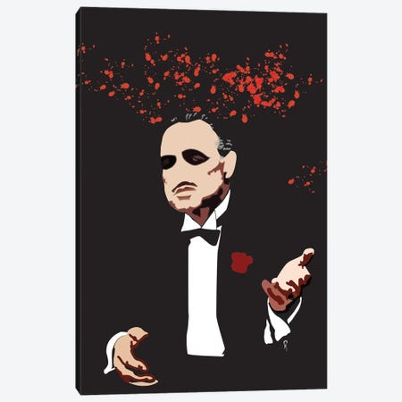 The Godfather Canvas Print #GND27} by GNODpop Canvas Print
