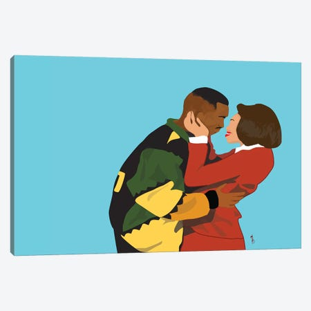 This Kind Of Love - Martin And Gina Canvas Print #GND28} by GNODpop Canvas Art