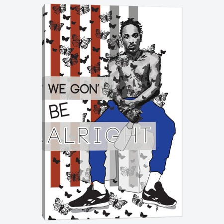 Alright - Kendrick Canvas Print #GND2} by GNODpop Canvas Art