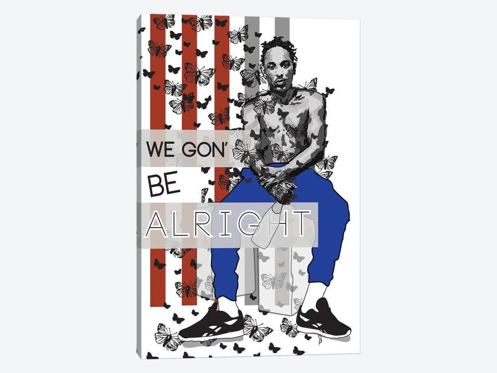 Alright - Kendrick by GNODpop 1-piece Canvas Wall Art