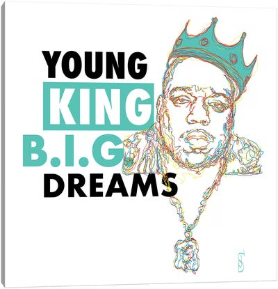B.I.G. Dreams Canvas Art Print