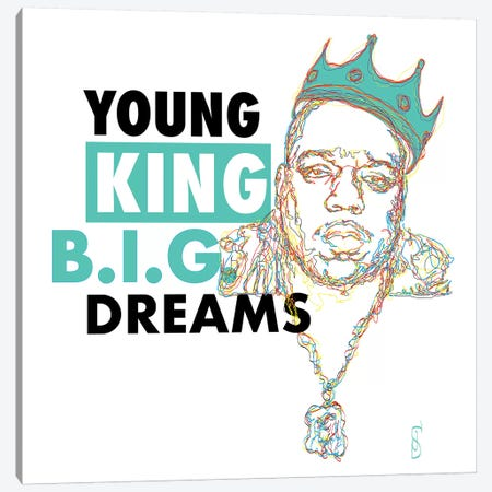 B.I.G. Dreams Canvas Print #GND35} by GNODpop Canvas Wall Art