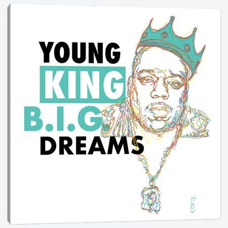 B.I.G. Dreams Canvas Print #GND35} by GNODpop Canvas Wall Art