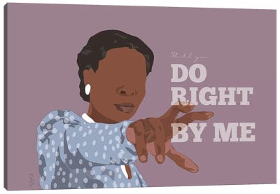 Color Purple - Until You Do Right Canvas Art Print
