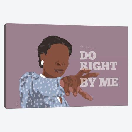 Color Purple - Until You Do Right Canvas Print #GND39} by GNODpop Canvas Art Print