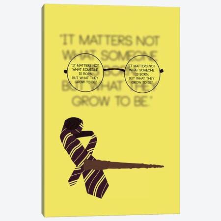 Harry Potter - It Matters Not Canvas Print #GND41} by GNODpop Canvas Wall Art