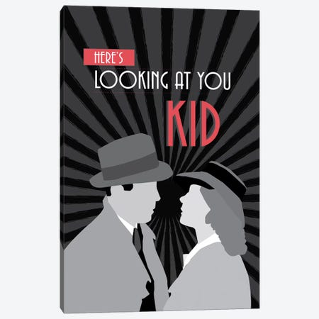 Here's Looking At You Canvas Print #GND42} by GNODpop Canvas Art