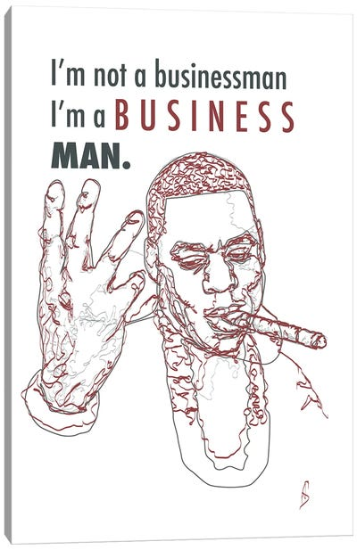 Jay-Z - Business Man Canvas Art Print