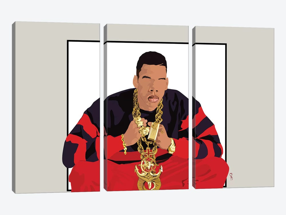 Jay-Z - I Will Not Lose by GNODpop 3-piece Canvas Print